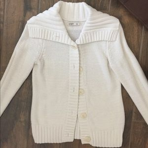 OLD NAVY cream button up sweater